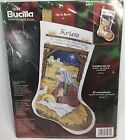 Bucilla Counted Cross Stitch Stocking Kit He Is Born Nativity 18 Christmas 84974