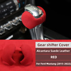 For Ford Mustang 2015-2020 Alcantara Leather W Abs Gear Shift Knob Cover Trim