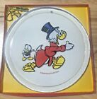 DISNEYS UNCLE SCROOGE McDUCK CLEAR GLASS 9 3 4 COLLECTOR PLATE WEST GERMANY