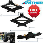 Heavy Duty Steel Scissor Jack 2 Ton With Handle Car Changing Tires Tools Black