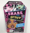 Monster High Share or Scare Board Game Complete All Pieces Beanie Coffin