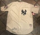 Mickey Mantle New York Yankees Jersey Mens XL HOF & 50th Anniversary Patches