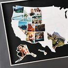 USA 50 States Photo Map United States Travel Picture Collage Black 24x36