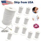 Elastic Band 1 4 Inch Cord for Sewing Mask White 70 yard roll Lot of 10 Rolls