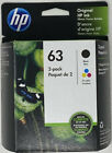 Genuine HP 63 Ink Black and Tri Color Combo in Retail Box