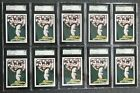 (10) 1989 TOPPS TRADED OMAR VIZQUEL ROOKIES #122T SGC 96! PSA 9s SELLING @ $30!
