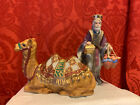 2002 THOMAS KINKADE Nativity SEATED CAMEL  KING GASPER Hawthorne Village