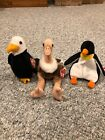TY Beanie Babies - Waddles, Stretch, and Baldy