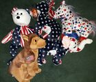 Ty Beanie Babies Lefty Righty Courage Police NYPD American Flag With Tags