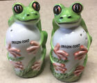 Vintage Frogs Salt and Pepper Shakers AGiftCorp Hand Painted Oregon Coast