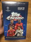 2018 19 Topps Chrome SOCCER UEFA CHAMPIONS LEAGUE FACTORY SEALED HOBBY BOX