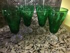 Anchor Hocking Forest Green Burple Boopie Glass Set Of 8