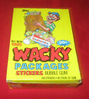 1985 WACKY PACKAGES BOX 48 UNOPENED PACKS IN EXCELLENT CONDITION
