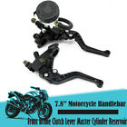 2x 7/8'' Motorcycle Brake Clutch Lever Master Cylinder Reservoir Adjustable US