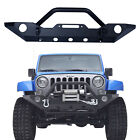 Front Bumper for Jeep Wrangler JK 2007 2017 Textured Black with Two D rings