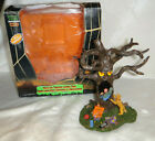 Lemax Spooky Town Halloween Trick or Treater Eating Tree Retired With Box