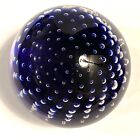 Archimede Seguso Murano Italy Bubble Art glass Paperweight Signed