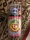 NEW Ty Beanie Baby Bear Clubby IV SEALED w/ Mystery button Could Be Signed By Ty