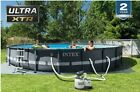 Intex 26333EH Ultra XTR Set Above Ground Pool 20ft X 48in Gray w sand pump
