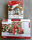 Christmas Creatology 3D Structure LOT GINGERBREAD HOUSE 519 pc  NATIVITY 162 pc