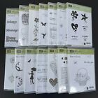 Stampin Up Set of Stamps Cling  Clear Unmounted Retired You Choose Free Ship