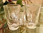 Set of 2 Vintage Juice Glasses Tomato Pattern NearNew Up to 8 Available.