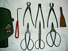Bonsai Japan Made Trimming Pruning Tool Set Multi Piece Cutter Scissors Kit