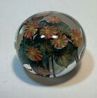 David Lotton Art Glass 10 Count Flower Paperweight Signed Dated 1992