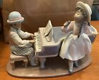 "Lladro Black Legacy 5930 ""Jazz Duo"" - Retired Mint Condition Girl & Boy w/ Piano"