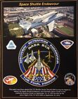STS ENDEAVOUR TWICE FLOWN PATCH ABOARD 747 SHUTTLE CARRIER AIRCRAFT 905 TO CSC