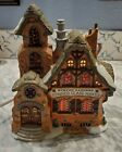 Lemax Caddington Christmas Village Burton Sanders Stained Glass Maker 2001