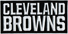NFL Cleveland Browns Text Logo National Football League Badge Iron On Patch