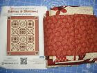 Henry Glass Berries  Blossoms Quilt Kit Red Work Floral 54 x 67