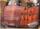 STS 109 ENDEAVOUR PRIMARY OBJECTIVE MISSION CREW 30 X 40 BOARD