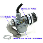19mm PZ19 Carburetor Air Filter Intake For 50cc 70cc 90cc 110cc Dirt ATV Quad
