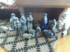 1986 David Eldreth Pottery Nativity Set With Stable
