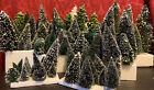 HUGE LOT 88 Christmas SNOW VILLAGE TREES Department 56, Lemax NO BASES Display