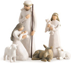 Willow Tree Nativity Sculpted Hand Painted Nativity Figurines 6 Pieces Set