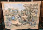 TAPESTRY PETER RABBIT BEATRIX POTTER Tapestry English cottage garden