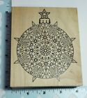 OUTLINES RUBBER STAMP ORNAMENT 1184 CHRISTMAS HOLIDAY DECOR CARDS