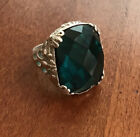 Silpada R2456 Caspian Sea Sterling Silver And Faceted Aqua Glass Ring Size 7