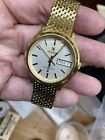 Movado Zenith 1970's Electronic Gold Plated Day Date Wristwatch 20-0030-505