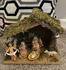 Vintage Fontanini Nativity Set Depose Italy Stable Manger Christmas 5 Piece