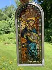Vintage National Gallery Of Art Virgin Mary Suncatcher Stained Glass Mosaic Pane