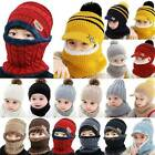 Toddler Baby Child Boys Girl Winter Warm Knitted Beanie Hat Circle Scarf Set Cap
