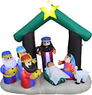 Bzb Goods 6 Foot Tall Christmas Inflatable Nativity Scene Led Lights Outdoor Ind