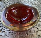 Sommerson Red Art Glass Bowl MCM Murano