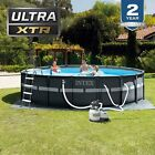 Intex 18ft X 52in Ultra XTR Pool Set with Sand Filter Pump Ladder Ground Cloth