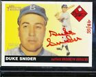 2004 TOPPS HERITAGE DUKE SNIDER RED INK AUTO 48 55 REAL ONE AUTOGRAPH