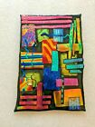 DICHROIC FUSED GLASS SCULPTURE MOSAIC CROSS HATCH  BY ARTIST CARTER 1